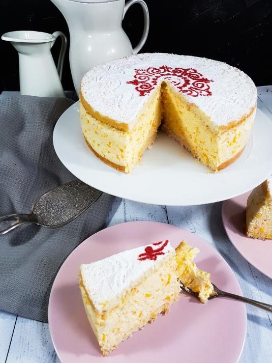 Quark Sahne Torte Mit Mandarinen Mit Gelatine Hylen Maddawards Com