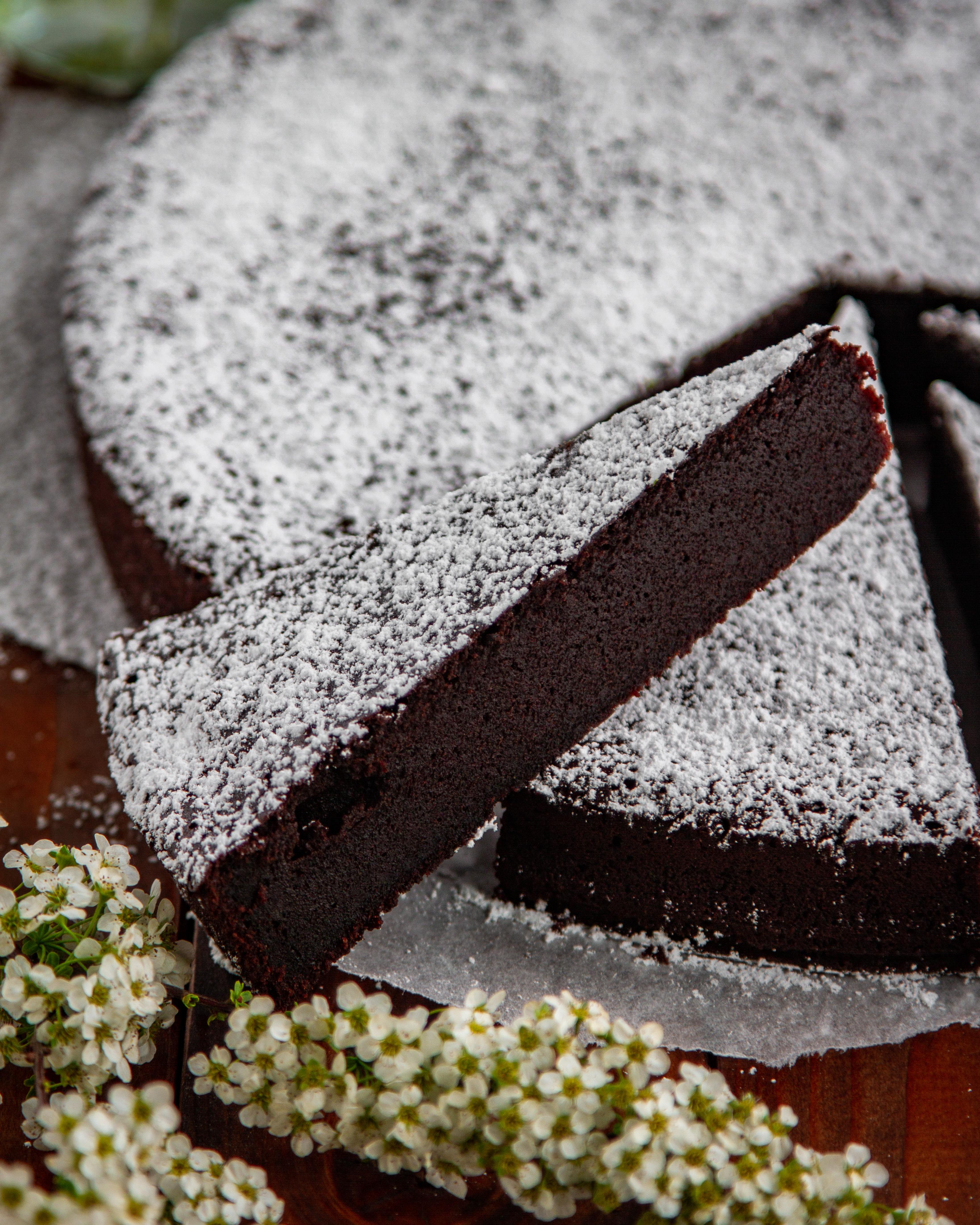 Schwedischer Schokoladenkuchen Chokladbak Tinas Küchenzauber