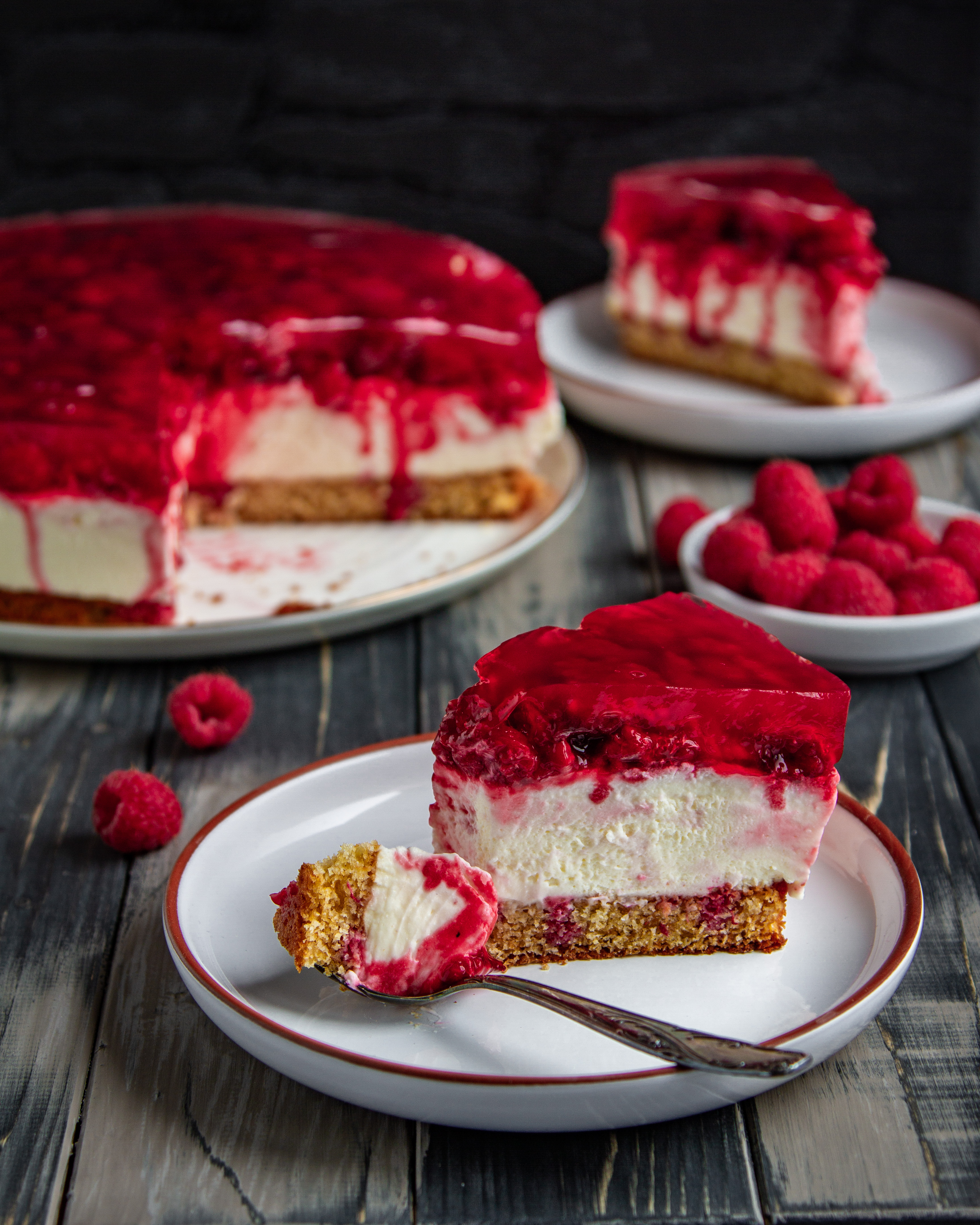 Himbeer - Mascarpone Kuchen