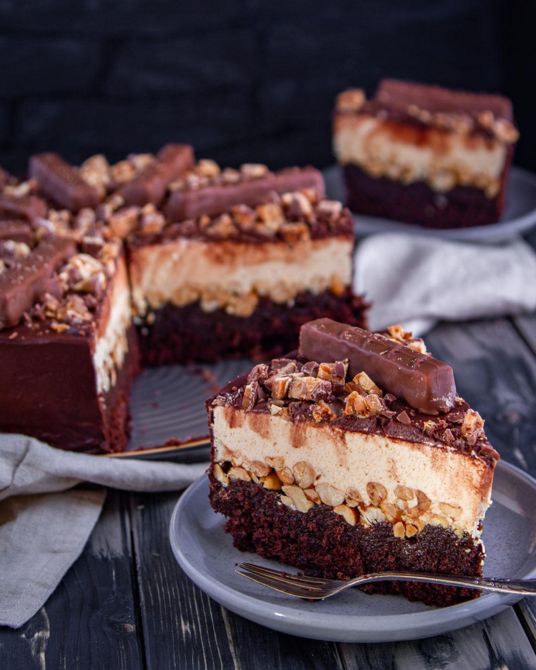 Snickers Torte Tinas Kuchenzauber