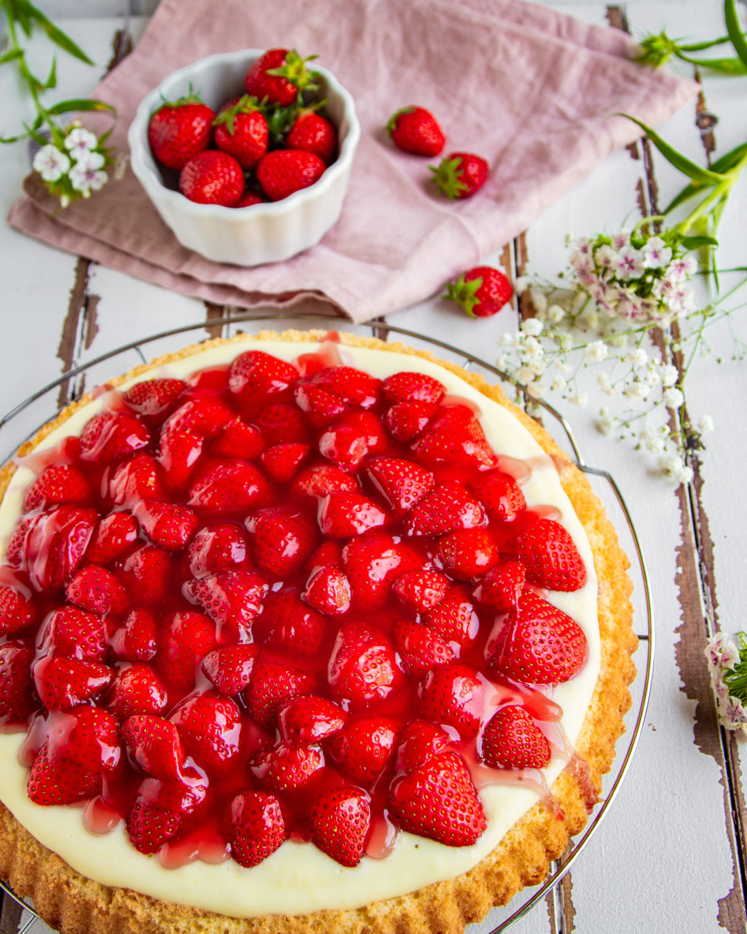 Erdbeerkuchen Mit Vanillepudding Tinas Küchenzauber